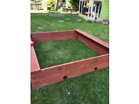 WOODEN SANDPIT with benches VGC