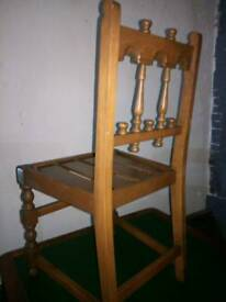 Stunning carved ERCOL dinning chair