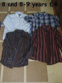 boys shirts 8-9 years and 10-11 years