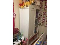 Nursery furniture set. Includes cotbed wardrobe and changing station