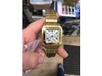 Cartier Santos 100 Working Dials Sweeping stopwatch £100