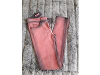 Rich & Royal red skinny jeans size 27/34
