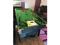 5 foot folding snooker/pool table