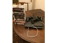 250GB PlayStation 3 + 3 Controllers + ~20 games