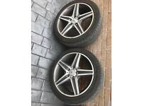 Mercedes alloy wheels 18""