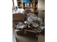 Large strong moving boxes plus all packing paper x 8 to give away TODAY!!