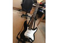 Black and white ELEVATION guitar