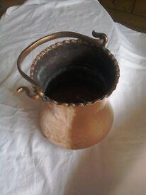 Copper ornamental pot