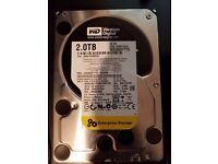 WD Black 2TB Performance Desktop Hard Disk Drive 7200 RPM SATA 6 Gb/s 64MB Cache 3.5 Inch