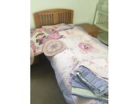 Girls princess room bedding and curtains