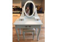 Dressing Table, Mirror, Drawers and Stool- shabby chic