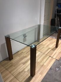Glass top dining table for sale