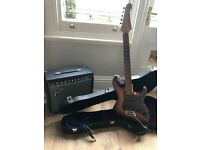BEGINNERS STARTER PACK - Yamaha Pacifica Electric Guitar & Case & Fender Champion 30DSP Amplifier