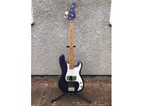 """Unbranded """"Made In Japan"""" Precision Bass Purple (70's, Lawsuit, Greco, Ibanez?) for sale  Yate, Bristol"""