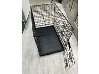 Puppy cage, harness, lead, training pads