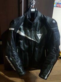 Motorbike Leather Jacket Medium