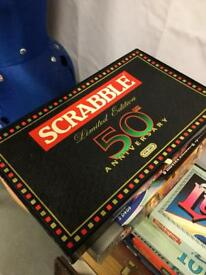 Rare SCRABBLE 50th Anniversary Limited Edition board game used SDHC