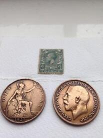 Collectible coins and post mark