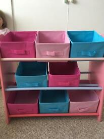 Girls storage unit