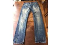 Original LEVI'S 501 BLUE JEANS Straight Leg - Size - Waist 32/ Leg 34 Excellent