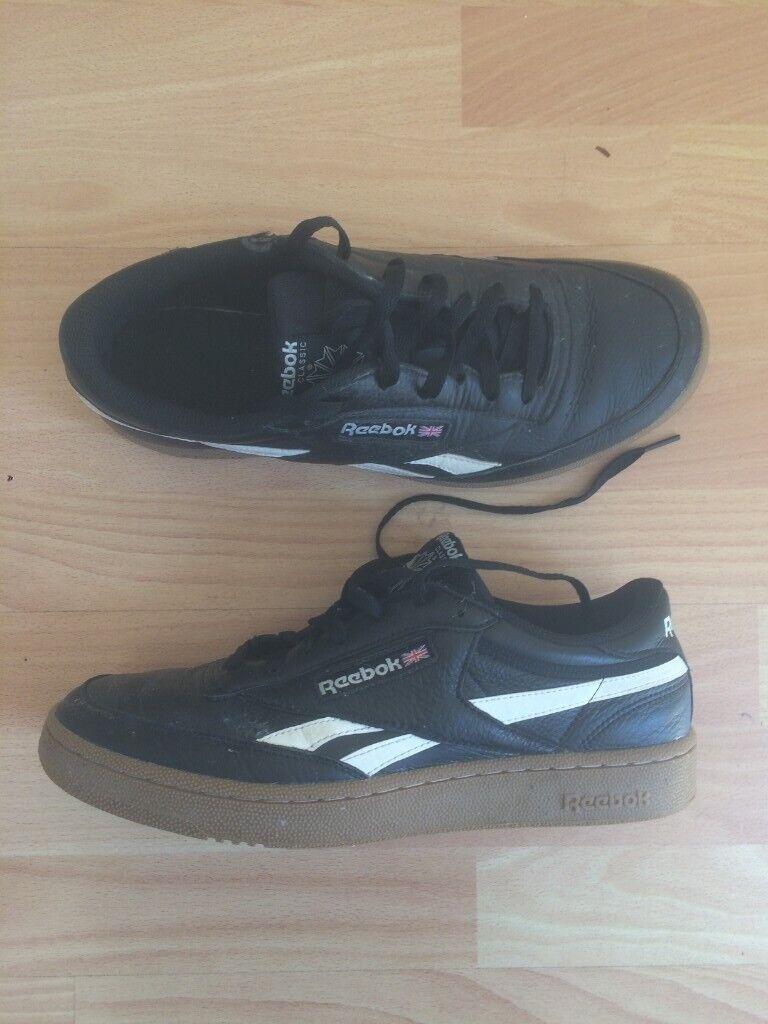noir reebok trainers size 10