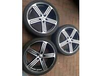 3x19 inch vw cadiz alloy wheels pcd 5x112