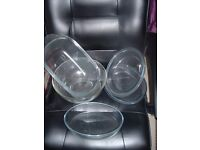 PYREX SEVERAL BIG ITEMS PLUS STAINLESS STEEL SERVERS