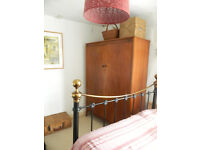 Beautiful hardwood large vintage wardrobe