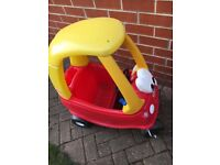 Red and Yellow Little Tikes Cosy Coupe Car