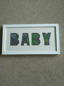 Baby nursery white picture frame