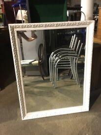Large White Decorative Mirror - Morris Mirrors - Bedroom - Lounge - Hotel
