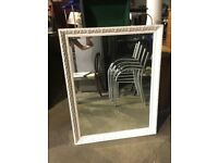 Large White Decorative Mirror - Morris Mirrors - Bedroom - Lounge - Hotel
