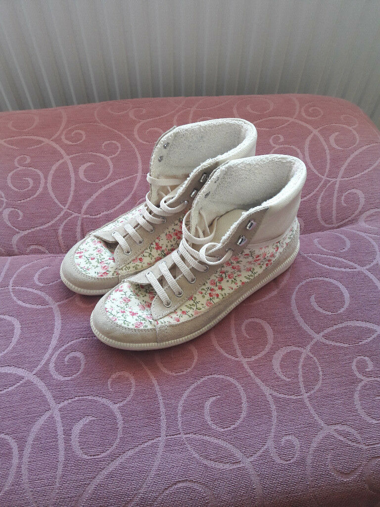 River Island Floral Trainers
