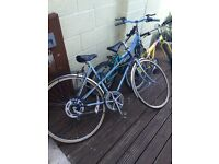 One adult two kids bikes