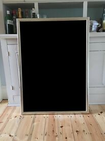 2 x Very Large Silver Leaf Picture/Poster Frames, With Glass