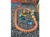 Small train and track plus a battery driven Thomas the tank engine