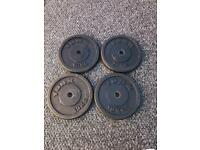 4x10KG METAL WEIGHT PLATES