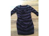 Seraphine Maternity Dress - Size 12, Black with Purple