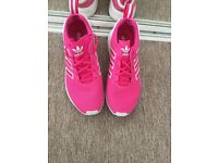 Pink Adidas ZX FLUX Trainers Size 5