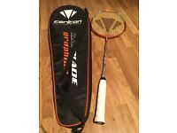 Carlton badminton raquet with case. Good condition