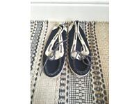 Call It Spring blue and white boat shoes