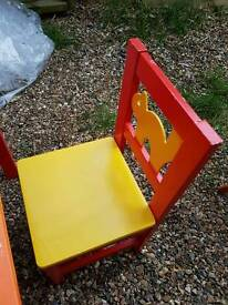 Childrens table and 2 chairs
