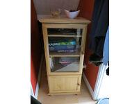 video dvd glass/wooden cabinet