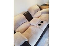 £700 / 2 x 2 seated recliner with cuo holder