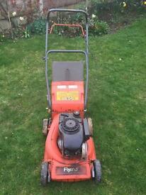 Faulty petrol lawn mower