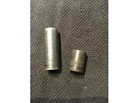Snap on 1/2 19mm deep shallow sockets x2