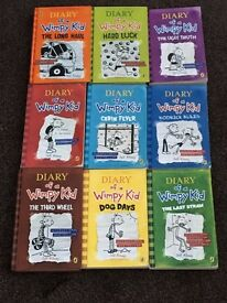 Diary of a Wimpy Kid Hard Back and Paper Back collection