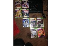 Xbox 360 elite slim with connect and games