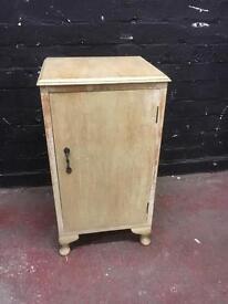 Vintage single door cabinet on Queen Ann legs