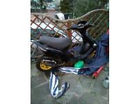 Gilera stalker moped 50cc with 70cc kit and race pipe etc. Unfinished project